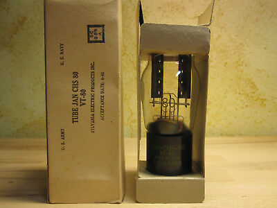 JAN-CHS-80 TUBE VT-80 U.S.A. ARMY 80 POWER RECTIFIER UX-380 UX-280 röhre RCA OVP