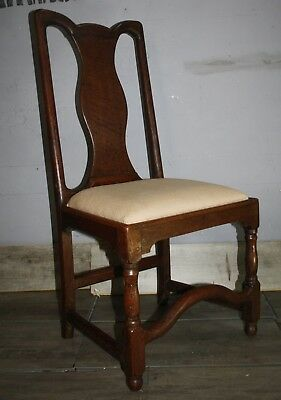 Mid eighteenth century oak joined side hall chair
