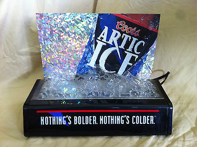 Vintage Coors Artic Ice Lighted Beer Sign Advertizing Display