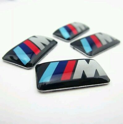 4 Badges to fit BMW M Tec M Sport Alloy Wheel Sticker