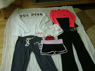 Pre Owned Lot Of 6 Victorias Secret Pink Mixed Good  Condition +Cosmetik Bag