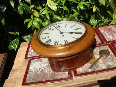 Vintage Clock ,  Movement Inside Wall Clock Case For Office Or School Clock