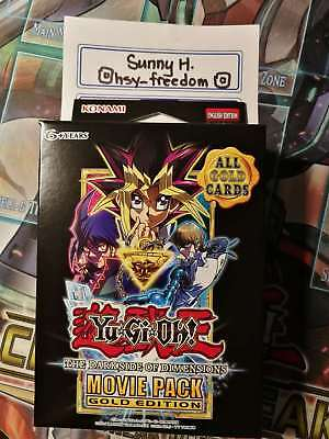 Yugioh Dark Side of Dimensions Movie Pack Gold Edition 1st Ed