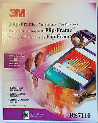 3M™ Professional Flip-Frame™ Transparency Protectors RS7110 50ct Box