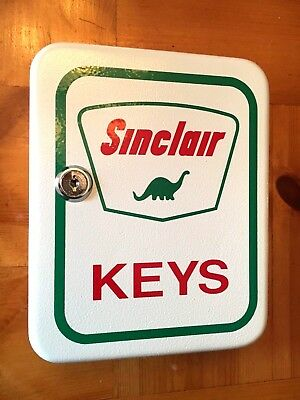 SINCLAIR Key Box Service Station Lock Box Steel Cabinet Mechanic Gas Pump Oil