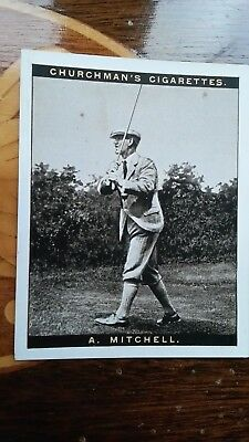 WA & AC CHURCHMAN-FAMOUS GOLFERS GOLF large 1927- #8 A Mitchell EXC