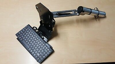 "Space deck desktop mounting bracket for 10"" touch screen and mini keyboard"