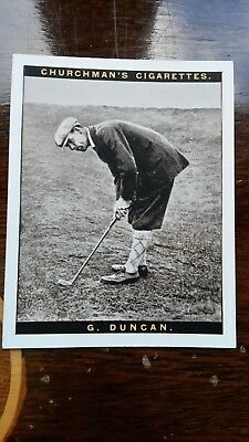 WA & AC CHURCHMAN-FAMOUS GOLFERS GOLF large 1927- #3 george duncan