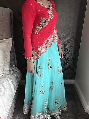Bridal Heavy Pakistani Indian Anarkali Wedding Lengha Salwar Kameez Maxi Dress