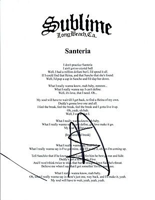A Boy Named Sue By Johnny Cash Santeria By Sublime My