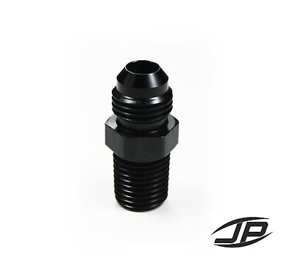Straight Adapter 6 AN to 1/4 NPT Fitting Black HIGH QUALITY!