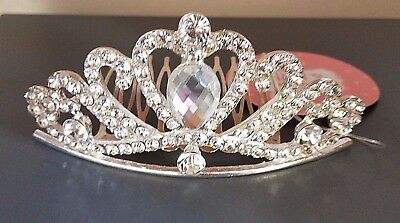 FASHION & FLUFF Silver Crown with Clear Rhinestones - NEW with Tags