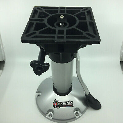 Boat Seat Pedestal Gas Lift & Suspension Adjustable Aluminium 340-450mm