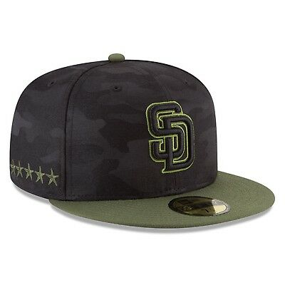 f8ce35637d3 San Diego Padres New Era Black 2018 Memorial Day On-Field 59FIFTY Fitted Hat  Men