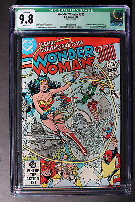 WONDER WOMAN #300 first LYTA TREVOR 1983 NUDE Origin Sandman Qualified CGC 9.8