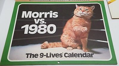 Morris the Cat 9 Lives 1980 Calendar Morris vs 1980 NEW Vintage advertising Rare