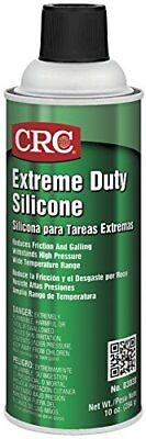 NEW CRC Extreme Duty Silicone Lubricant, 10 oz Aerosol Can, Clear/White TAXFREE