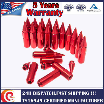 20x M12X1.5 Cap Spiked Extended Tuner Aluminum Wheels Rims Lug Nuts for Honda GM