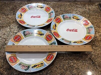 """3 Coca Cola 9"""" Plates by Gibson - Good Ole Days"""