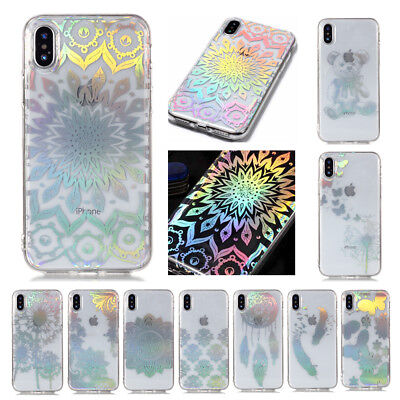 Clear Crystal Pattern Soft TPU Case Cover For iPhone 6s 7 8 Plus iPod Touch 5/6
