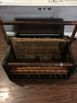 Vintage  Table Tabletop Weaving Loom