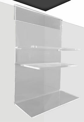 Acrylic Shower Caddy Single Shelf WIDE HOOK