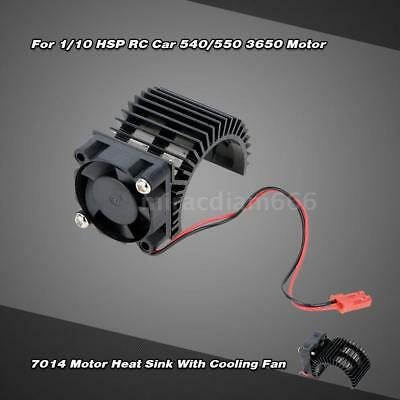 7014 Motor Heat Sink With Cooling Fan for 1/10 HSP RC Car 540/550 3650 U5U8
