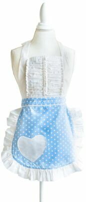 Sugar Baby Aprons 50s Style Vintage Darling Polka Dot Apron in Baby Blue, One