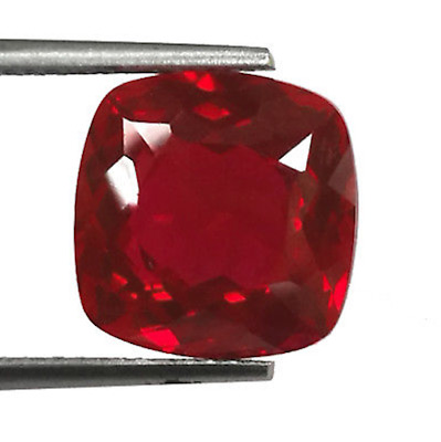 Synthetic Ruby Pigeon Blood AAA Cushion Faceted Loose Stones (4x4mm - 15x15mm)