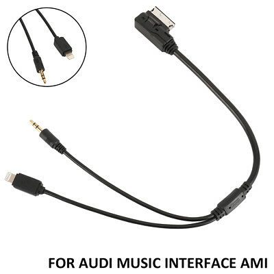 Music MDI AMI MMI Interface AUX Lightning Cable For Audi VW to iPhone 5 6