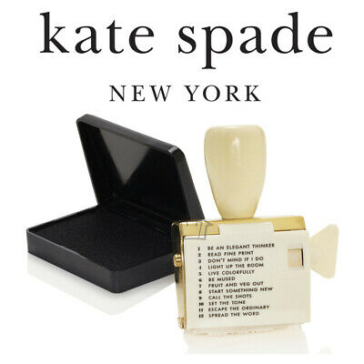NEW Kate Spade Rotating Stamp with Black Ink Pad - Stationery Office Arts Craft