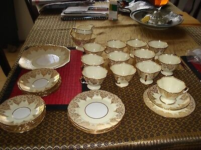 """Vintage 1939 """"gold"""" China By Hammersley And Co."""