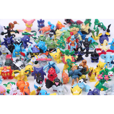 Random 3 PCS Pokemon Pikachu Monster 3-6CM Mini Figure Cake Topper Kid Gift Toys
