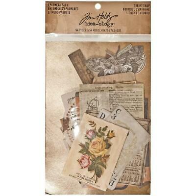 Tim Holtz Idea-Ology - Ephemera Pack - Thrift Shop - 54 Pieces
