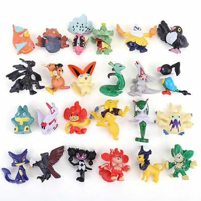 Random 5 PCS Pokemon Pikachu Monster 3-6CM Mini Figure Cake Topper Kid Gift Toys