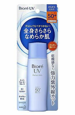 Kao BIORE UV Perfect Milk Sunscreen Face Body SPF50+ Waterproof UVA From Japan