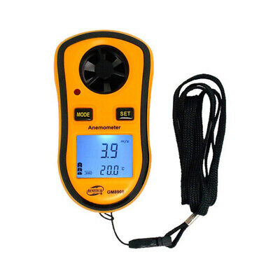 Wind Speed Meter Digital Thermometer Anemometer Air Flow Velocity Measure tool