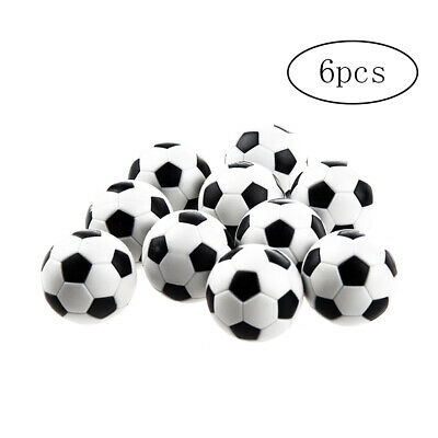 6pcs Table Soccer Footballs Replacement Mini Plastic Black and White Soccer Ball