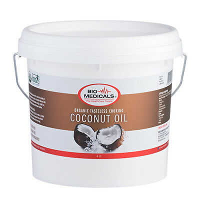 Tasteless Cooking Coconut Oil 4 Litres, Certified Organic, No Taste & Odour!
