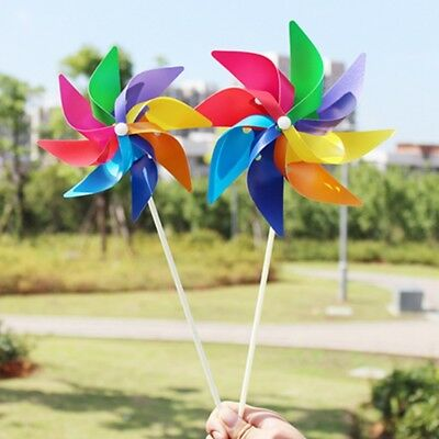 Garden Yard Party Camping Windmill Wind Spinner Ornament Decoration Kids Toy New