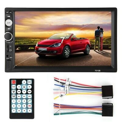 7010B 7  inch Double 2Din Car Touch Screen MP5 Stereo Radio Bluetooth Player