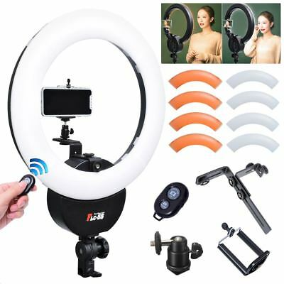 "Falconeyes 16.5"" 55W 42cm Ring Light w/ Orange Filter Camera Phone Clamp 110V"