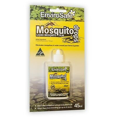 ENVIROSAFE MOSQUITO DROP Silicone Liquid Mozzie Control in Water Ponds NonToxic