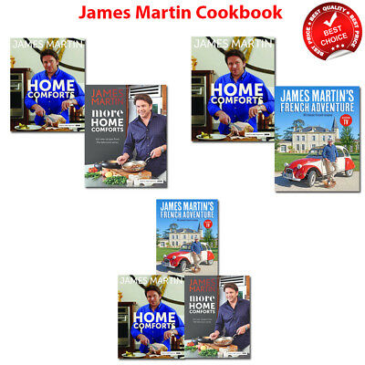 James Martin cookbook collection More Home Comforts French Adventure books set
