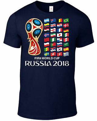 World Cup 2018 Russia T Shirt Football Soccer Plus Sizes S-5Xl Tee Wc1.10
