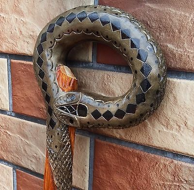 Snake Cane Walking Stick  Wooden Handmade Hand carving Canes COLLECTIBLE Gift