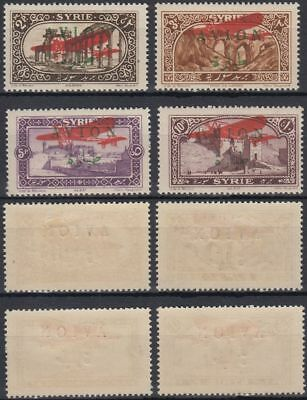 1925 Syria Airmails, UNISSUED set of 4 values, */mint MLH [sr3418]