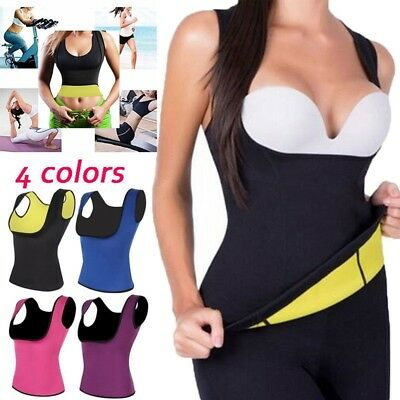 c82c510fd99 Sweat Neoprene Hot Body Shaper Waist Trainer Slimming Cincher Sauna Vest  Belt US