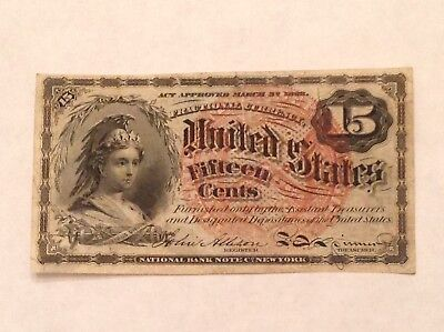 - US Fractional  Currency 15 Cents 4th Issue - Fr 1267