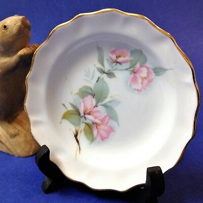 Duchess, England - Bone China Butter Plate / Pin Dish - 12cmD - Pink Floral